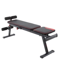 Refurbished Domyos 500 Fold-down / Incline Weight Bench - Black / Red