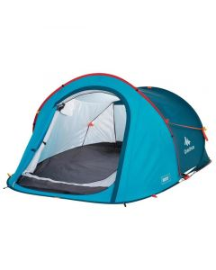 Refurbished Quechua Camping Tent - 2 Seconds - 2 People - Blue