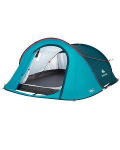 Refurbished Quechua 2 Seconds Camping Tent - Blue - 3 People