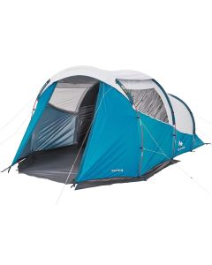 Refurbished Quechua Camping Tent With Poles Arpenaz 4.1 F&b 4 Persons 1 Bedroom
