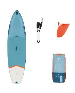 Refurbished Itiwit Beginner's Inflatable Touring Stand-Up Paddle Board 11 Feet Blue