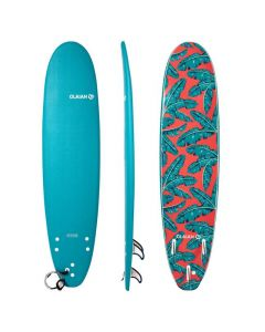 Refurbished FOAM SURFBOARD 7'8 500'. SUPPLIED WITH A LEASH AND THREE FINS