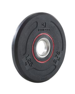 Refurbished Domyos Rubber Weight Training Disc Weight 28mm - 1.25kg